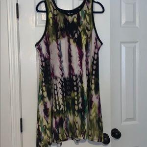 multi colored tank dress